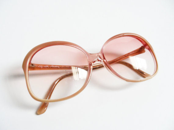 Vintage Elizabeth Arden Sunglasses Ombre Pastel Oversized Mod 70s 80s Hipster Retro Eyewear Shades Glasses High Fashion
